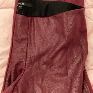 GUESS snake print leggings in red, size large